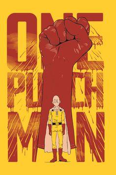 Saitama One Punch Man, Anime One Punch Man, Awesome Anime, Anime Love, One Punch Man Poster, Anime Manga, Anime Art, Saitama Sensei, Hero Run