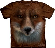3257fad0050d T-Shirts The Mountain Big Face Fox Scary Wild Animal Wolves Wolf Nice T Tee