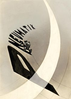 Pneumatik, Laszlo Moholy-Nagy, 1924.    Great usage of typography and composition.