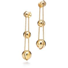 Tiffany & Co. -  Tiffany HardWear:Triple Drop Earrings(Pre-sale) ($2,500) ❤ liked on Polyvore featuring jewelry, earrings, tiffany co jewellery, tiffany co jewelry, tiffany co earrings and drop earrings