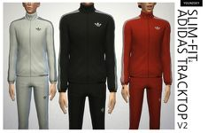 [The Sims 4] costume - Adidas track top (AM): Naver blog