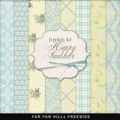 Far Far Hill: New Freebies Kit of Backgrounds - Happy Summer
