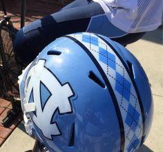 UNC Football shows off new argyle helmet stripe