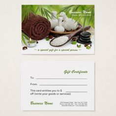 Minimalist Massage Therapist Business Card | Business cards ...