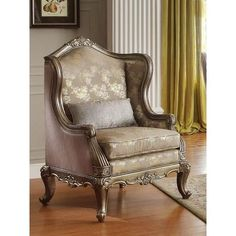 Vintage Decor Living Room Homelegance - Fiorella Accent Chair - - Fiorella Collection Accent Chair Faux Silk Cover Transitional Style Some Assembly Required Dimensions: x 31 x Accent Chairs For Living Room, Living Room Sets, Living Room Furniture, Sofa Furniture, Steel Furniture, Leather Furniture, Furniture Stores, Rocking Chair Cushions, Wingback Chair