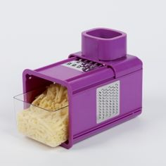 Purple Multi Grater with Drawer. Would be perfect for grating soap for DIY Laundry Detergent:)