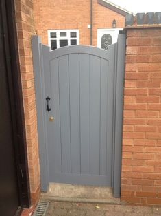 Side Gates - Stafford Gates - The Midlands Finest - Gardening Pacer Backyard Gates, Garden Gates And Fencing, Garden Doors, Fences, Outdoor Gates, Black Garden Fence, Fence Doors, Wooden Garden Gate, Wooden Gates