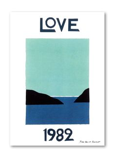 YSL Love Poster 1982 #etsy #art