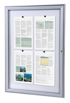Outdoor Lockable Notice Board from Panel Warehouse UK Things