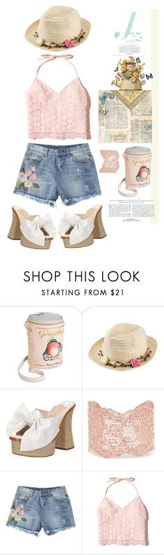 """Ain't She a Peach'"" by dianefantasy ❤ liked on Polyvore featuring Betsey Johnson, Joe Browns, Paloma Barceló, Aurélie Bidermann, Hollister Co., shorts, polyvorecommunity, contestentry and polyvoreeditorial"