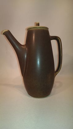 Palshus coffee pot decoration number 1187 by Per Linnemann Schmidt It has the characteristic silky haresfurglaze.  H 21.5 cm.