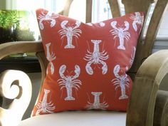 Lobster Cod Woven Pillow