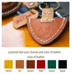 Personalized Guitar Pick Case Leather Keyring Custom Name Initial Monogram Christmas Gift For Him Under