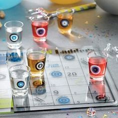 Shot Glass Shooters and Ladders Drinking Game