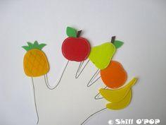 Fruits and Vegetables Finger Puppets Felt Toy PDF Pattern