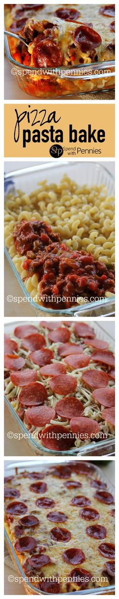 Pizza Pasta Bake is a super easy cheesy dish with layers of pasta, zest sauce & tons of gooey cheese!