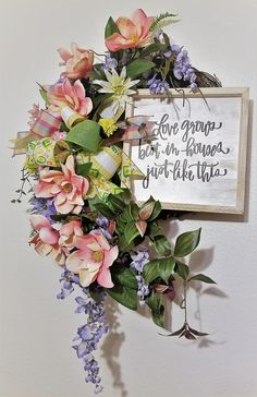 Wisteria Wreath, Magnolia Wreath, Magnolia Garland, Spring Wreath Magnolia, Silk Flower Wreath, Magnolia Door Hanger, Wisteria Garland Silk Flower Wreaths, Silk Flowers, Floral Wreath, Magnolia Garland, Country Wreaths, Floral Letters, Rose Embroidery, Wisteria, Grapevine Wreath