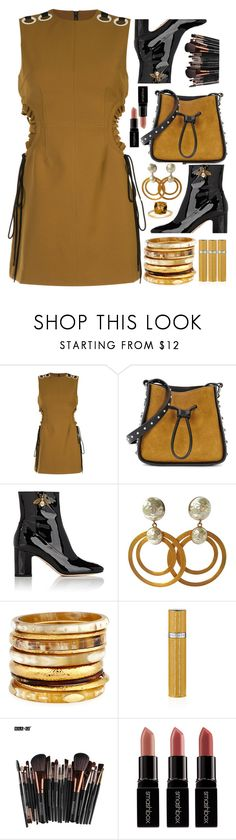 """""""Oh these boots!"""" by sunnydays4everkh ❤ liked on Polyvore featuring self-portrait, 3.1 Phillip Lim, Gucci, DOMINIQUE AURIENTIS, Ashley Pittman, Smashbox and Belk & Co."""