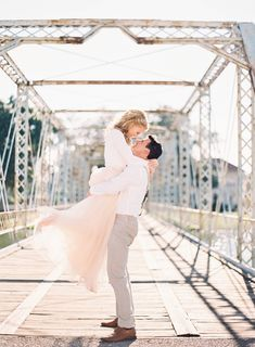 Sweet and romantic engagement shoot on Magnolia Bridge over Bayou St. John in New Orleans, and in City Park, but Marissa Lambert