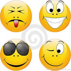 © Katarina Tilholm | Dreamstime.com- Four different yellow shiny smileys