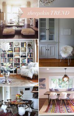 interior style file: sheepskin trend