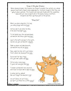 Draw A Rhyme! on Pinterest | Draw, Rhyming Words and Poem