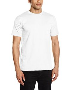 bc6b5360 Fruit of the Loom Mens Super Premium Short Sleeve T-Shirt White Large