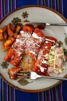 SAVEUR's Favorite Recipes of 2009 - Photo Gallery | SAVEUR.  Red Chile Enchiladas