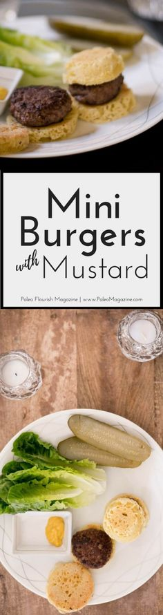 Get this Mini Paleo Burgers recipe here (includes recipe for the Paleo burger buns). This recipe is also Keto and low carb and really quick to make.