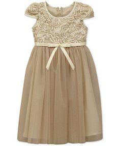 Jayne Copeland Girls' Soutache & Glitter Tulle Dress