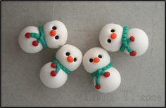Snowmen by Tina T.'s Polymer Clay, via Flickr