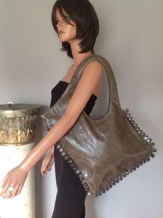 Bag Purse Hip Style  Skulls Snap Buttons Designer Fashion Antique Gold Unique #notknown #ShoulderBag