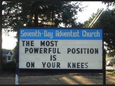 And I thought churches didn't have a sense of humor or innuendo. Ha!
