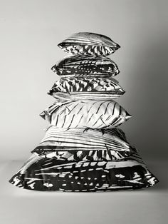 Spiked Palm Throw and Floor Pillows by Polka Dot Studio, new, black and white contemporary graphic digital #photographic #tropical #palm leaves for #homedecor products. Coordinate with wall #art, #duvet covers, #clocks and more.