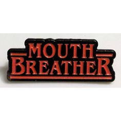 Stranger Things Mouth Breather Enamel Lapel Pin ($15) ❤ liked on Polyvore featuring jewelry, brooches, pin brooch, pin jewelry, enamel brooches and enamel jewelry