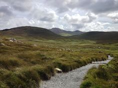 Hiking trail in Connemara National Park, County Galway, Ireland