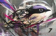Streetart: Graffiti Birds by L7m
