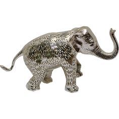 Christofle Lumiere Elephant Silverplate - Large from tolw on Ruby Lane Elephant Love, Little Elephant, Pottery Sculpture, Lion Sculpture, Old Lights, Elephant Figurines, Ruby Lane, Elephants, Silver Plate