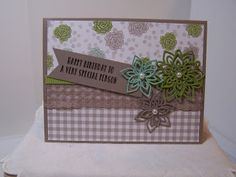 Flourish Thinlits, Succulent Garden DSP, Old Olive, Tip Top Taupe,