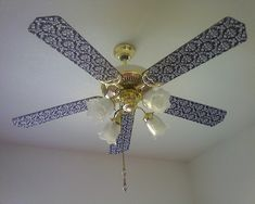 How-To: Cover Ceiling Fan Blades in Fabric