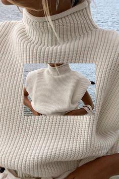 Sweater Knitting Patterns, Free Knitting, Knitting Sweaters, Street Outfit, Street Wear, Knit Vest, Edgy Outfits, Knit Crochet, Knitwear