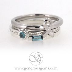 9b25c96abfad1 Ovarian Cancer Awareness Ring Set #ovarian #awareness Teal Ribbon, Gift  Ribbon, Ovarian
