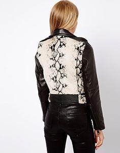 Image 2 ofMango Perforated Leather Jacket