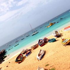 So many boats, so many colors! #Sal #CaboVerde #Kaapverdie
