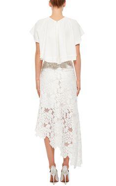 Asymmetrical Lace Skirt by TIBI Now Available on Moda Operandi