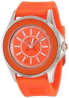 "965a11b3ffc Juicy Couture Women s 1900874 ""Rich Girl"" Orange Jelly Strap Watch"