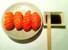 salmon sashimi mmmmm
