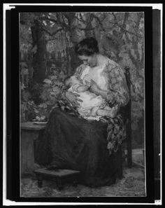 """Maternity"" by Gari Melchers,  bet 1900-1920"