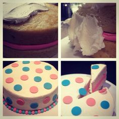 It's a girl! Gender reveal cake #firstcomeslove