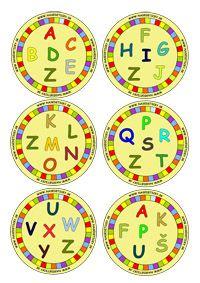 DOBBLE - písmenká Alphabet, Schools First, 1st Grade Math, Games For Kids, Board Games, Decorative Plates, Classroom, Letters, Education